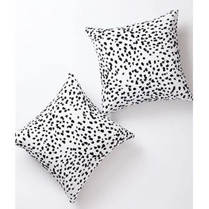 Two Dalmatian Spots Decorative Throw Pillow Covers